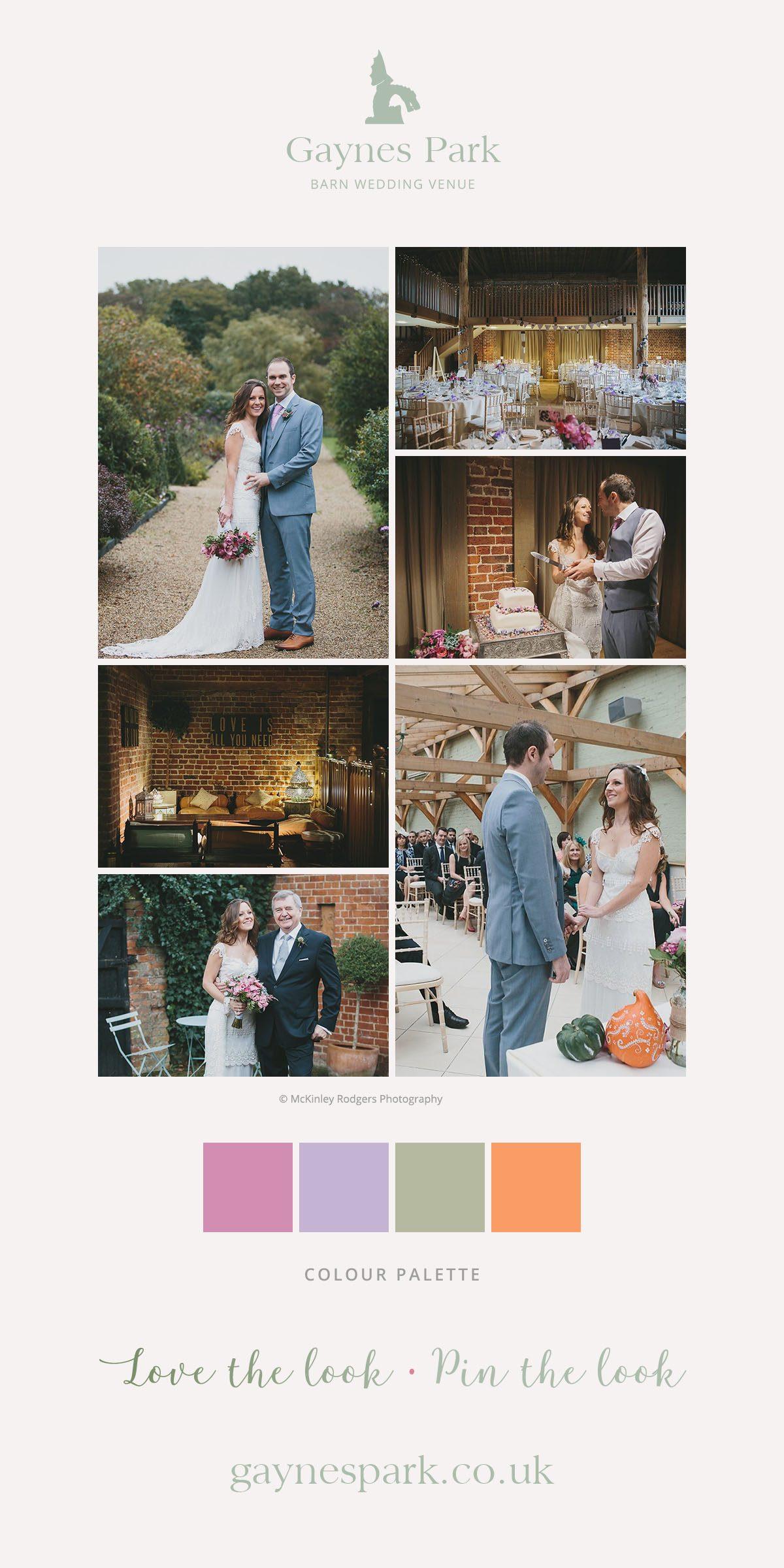 Joanna and Nick's real life wedding at Gaynes Park