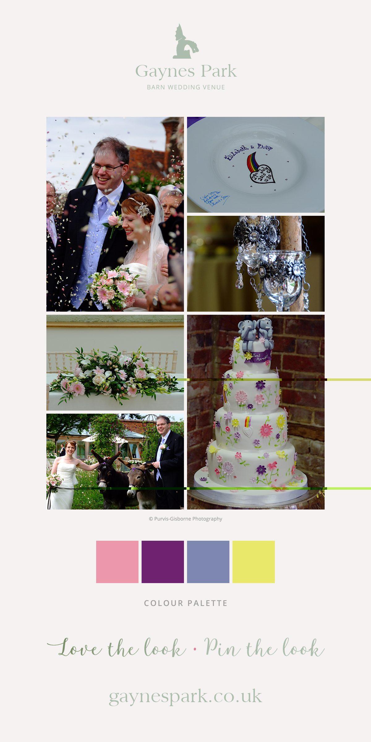 Elizabeth and Philip's real life wedding at Gaynes Park