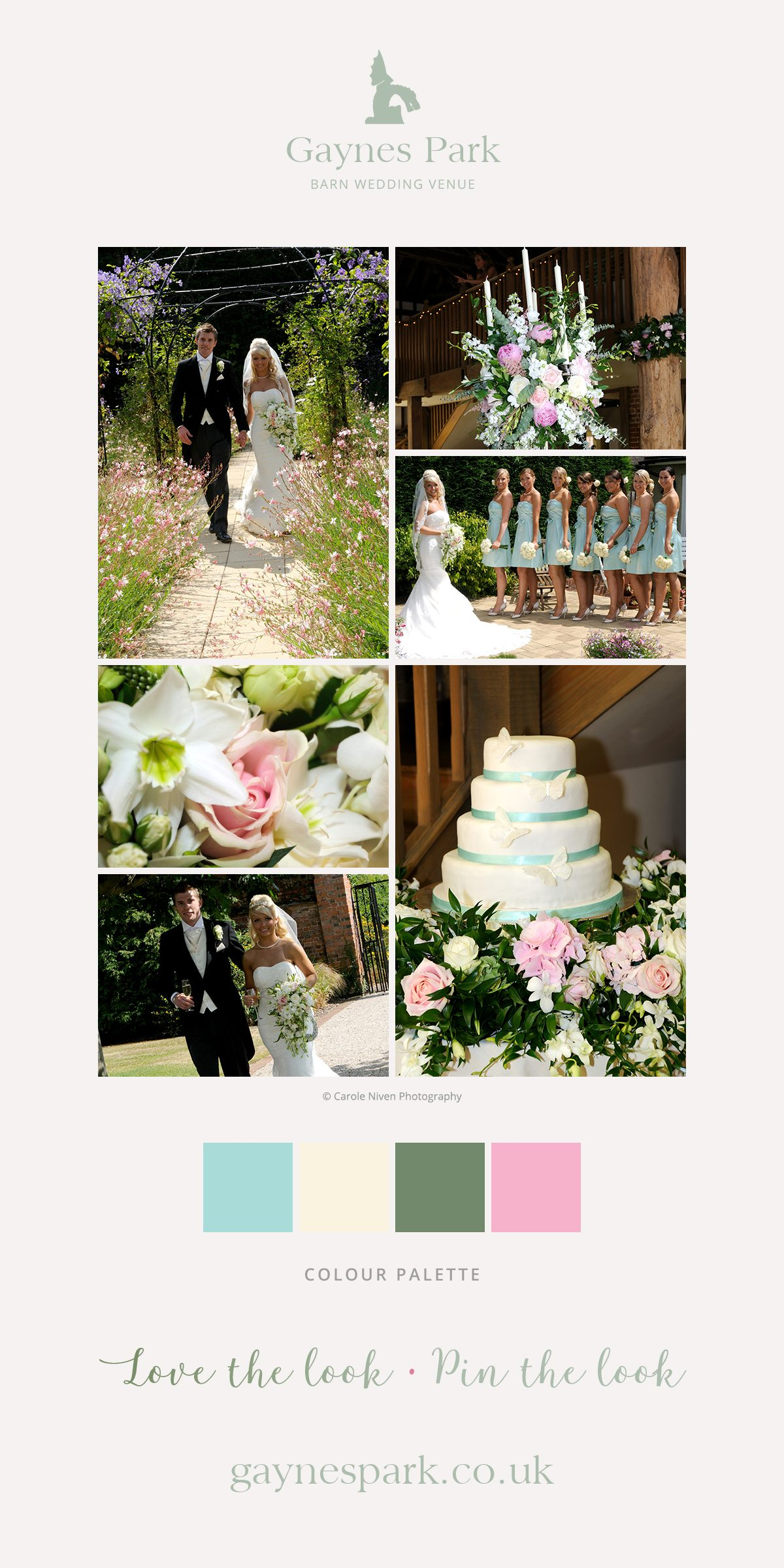 Jessica and David's real life wedding at Gaynes Park