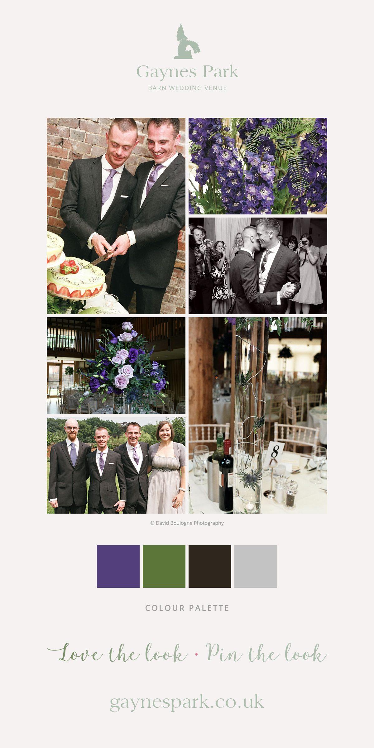 Paul amnd Bryan's real life wedding at Gaynes Park