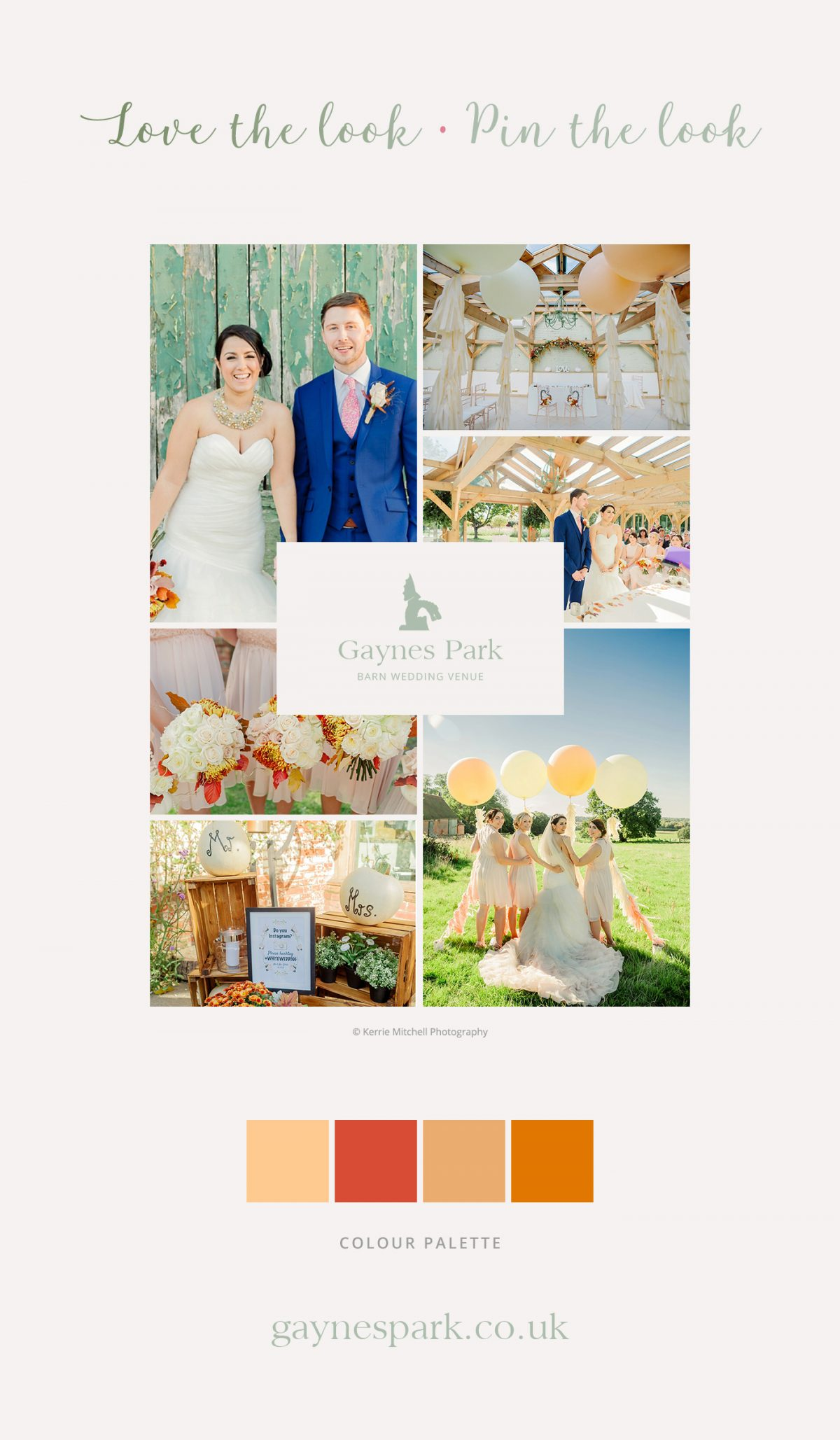 Claire and Steve's real life wedding at Gaynes Park