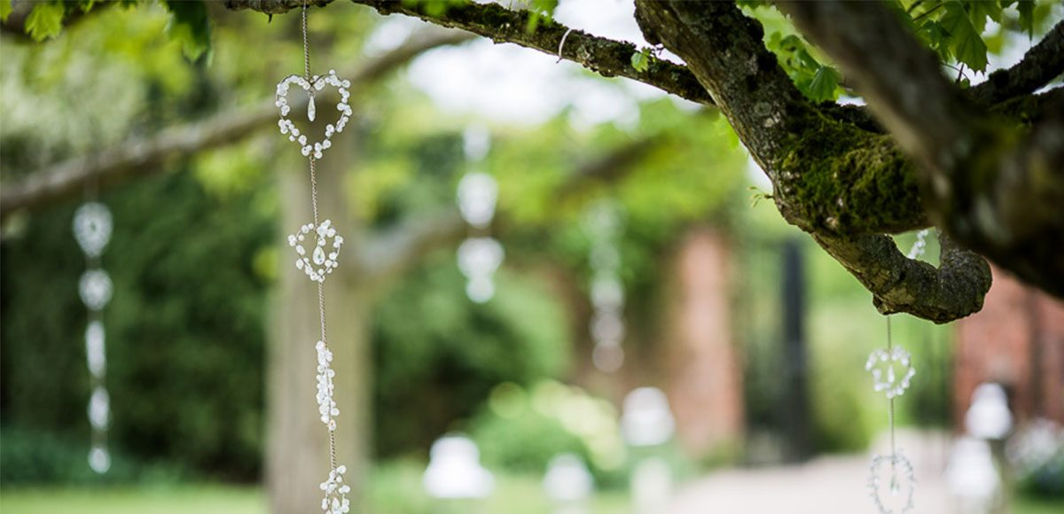 Save Trees Covered In Wedding Decorations For An Essex Ceremony