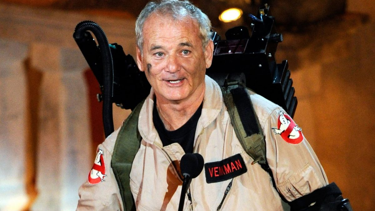 American actor, Bill Murray, as Peter Venkman from the 80's classic movie Ghostbusters.