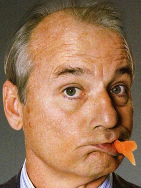 American acting legend, Bill Murray, eats a goldfish