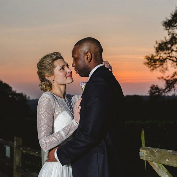 Bride and groom enjoying the sunset – venues in Essex