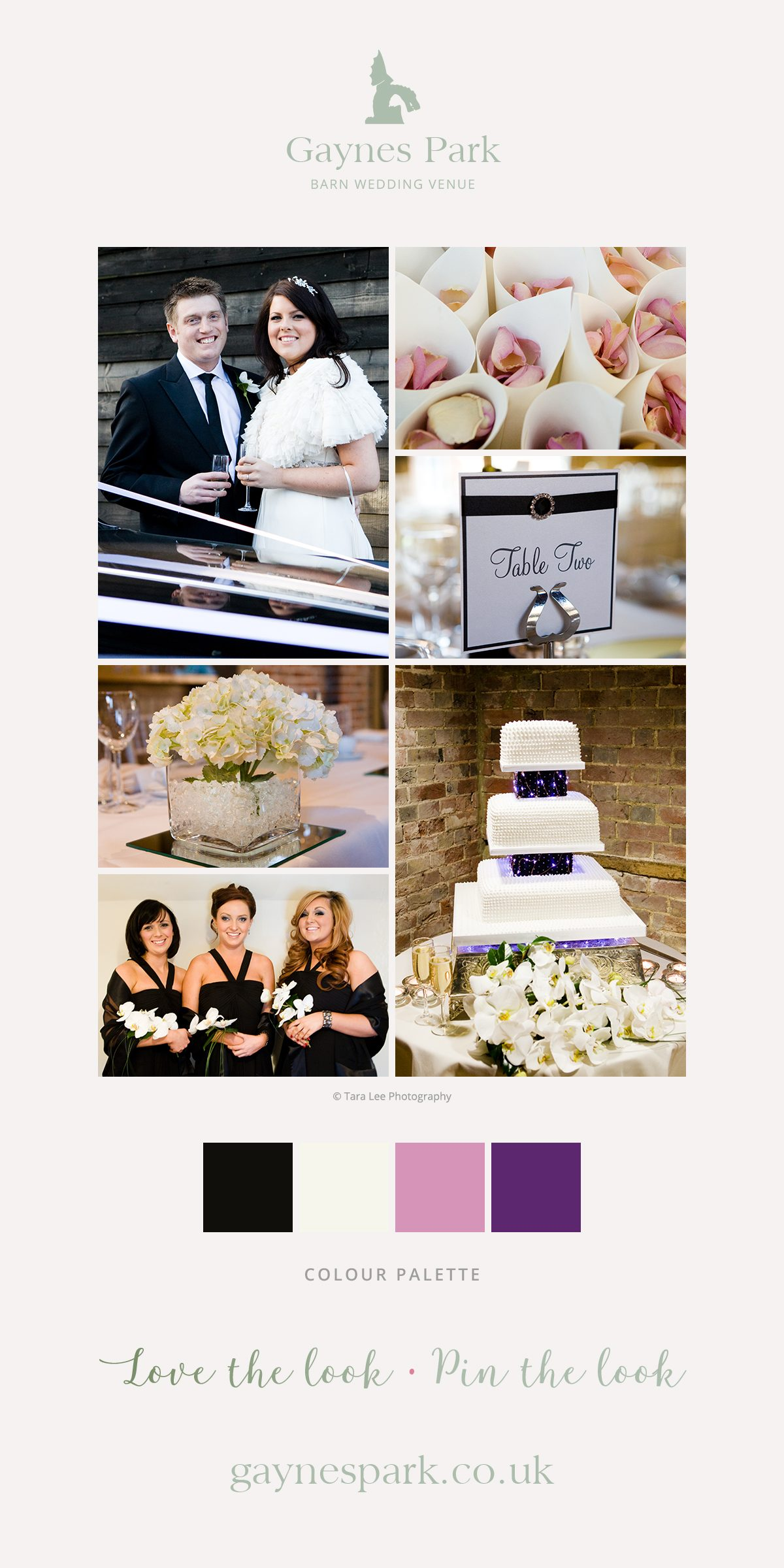 Ashley and Steven's real life wedding at Gaynes Park