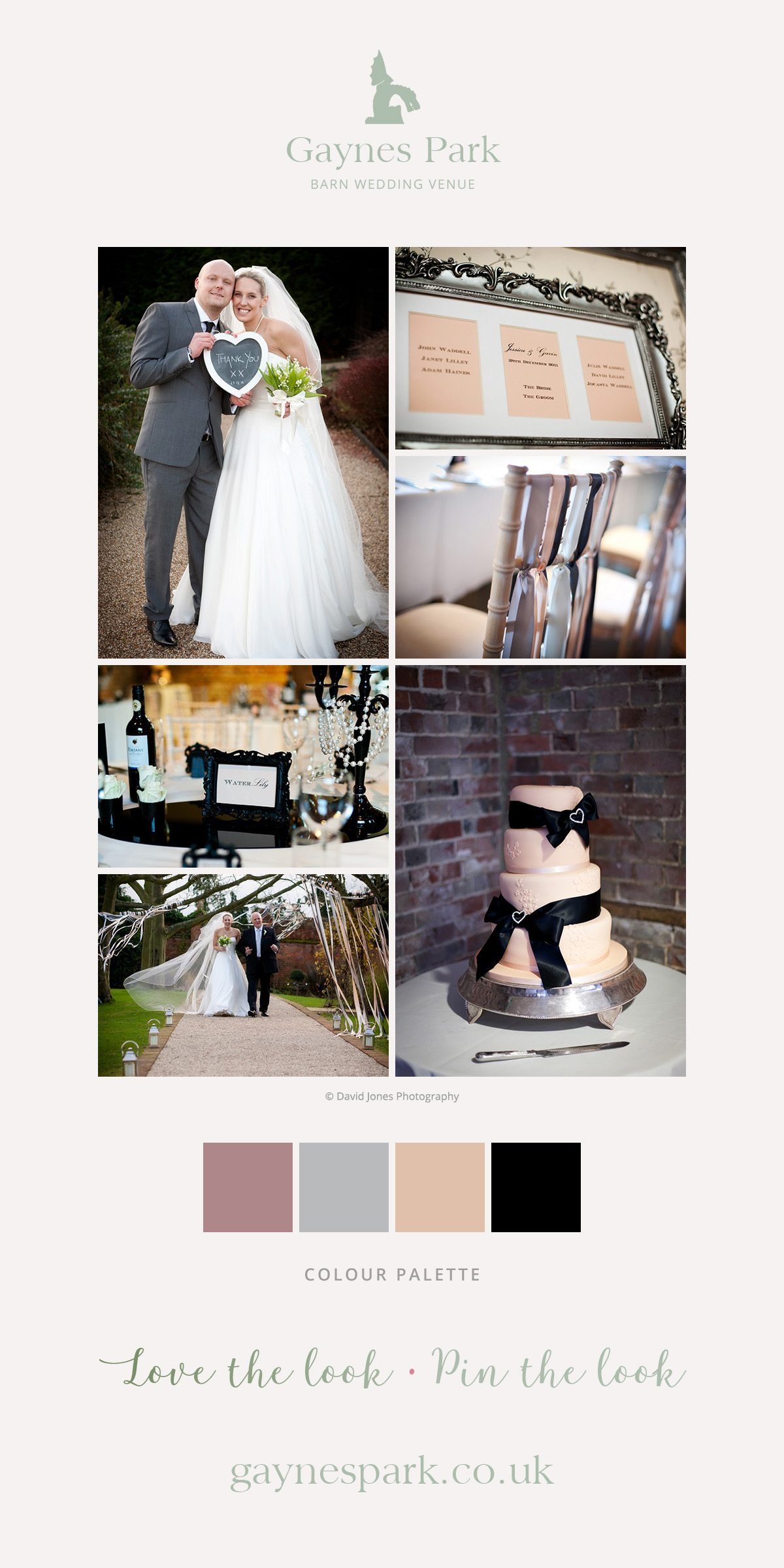 Jessica and Gavin's real life wedding at Gaynes Park