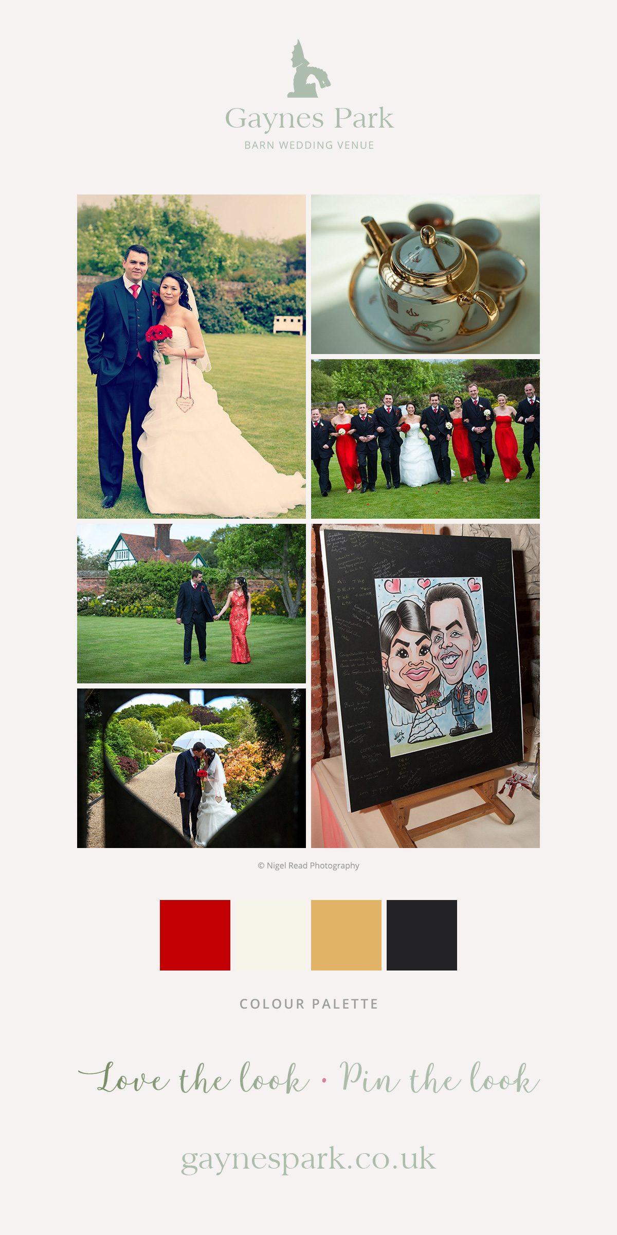 Kar-sin and Mark's real life wedding at Gaynes Park