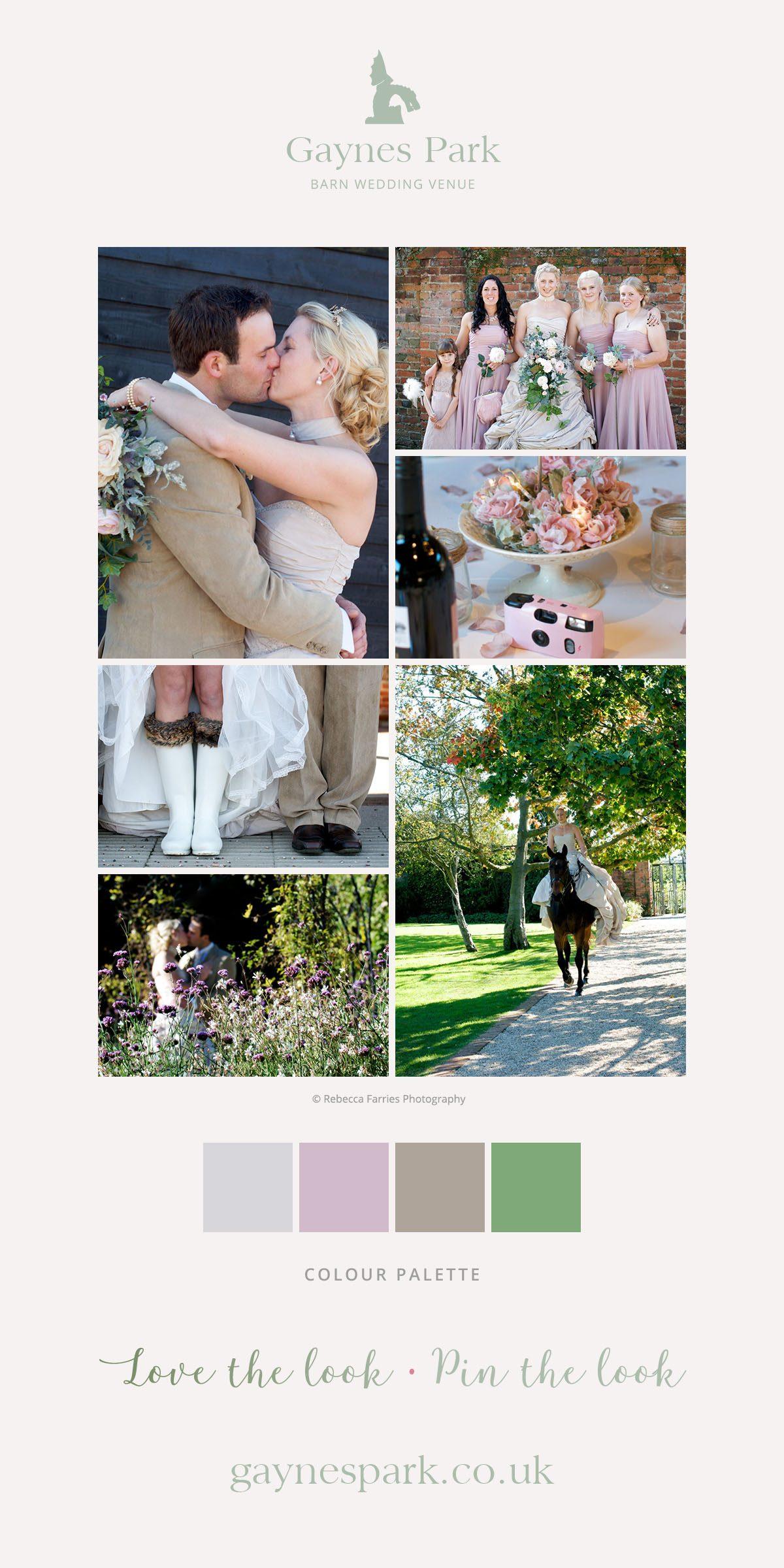 Rachael and Luke's real life wedding at Gaynes Park