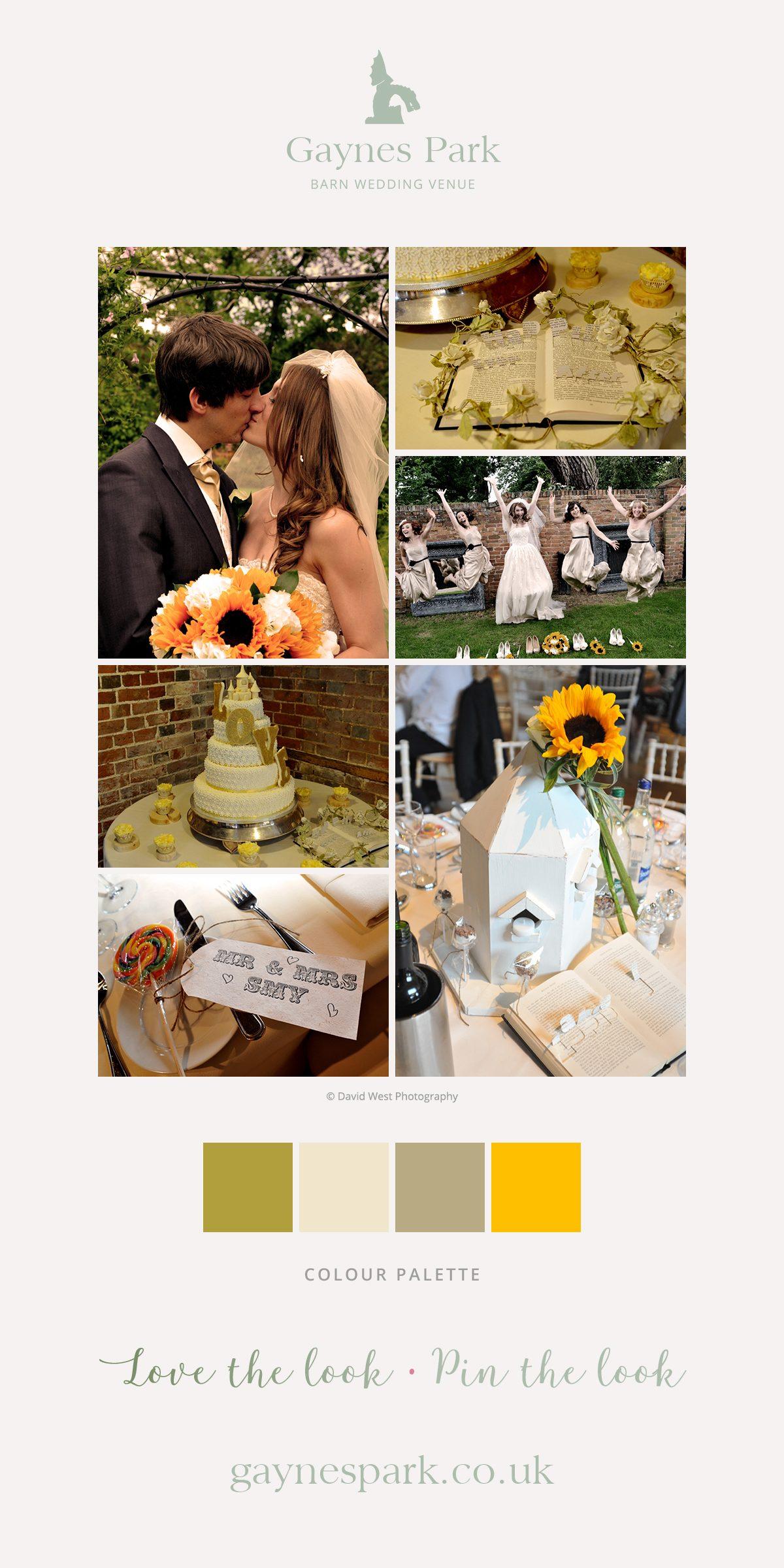 Sara and Daniel's real life wedding at Gaynes Park