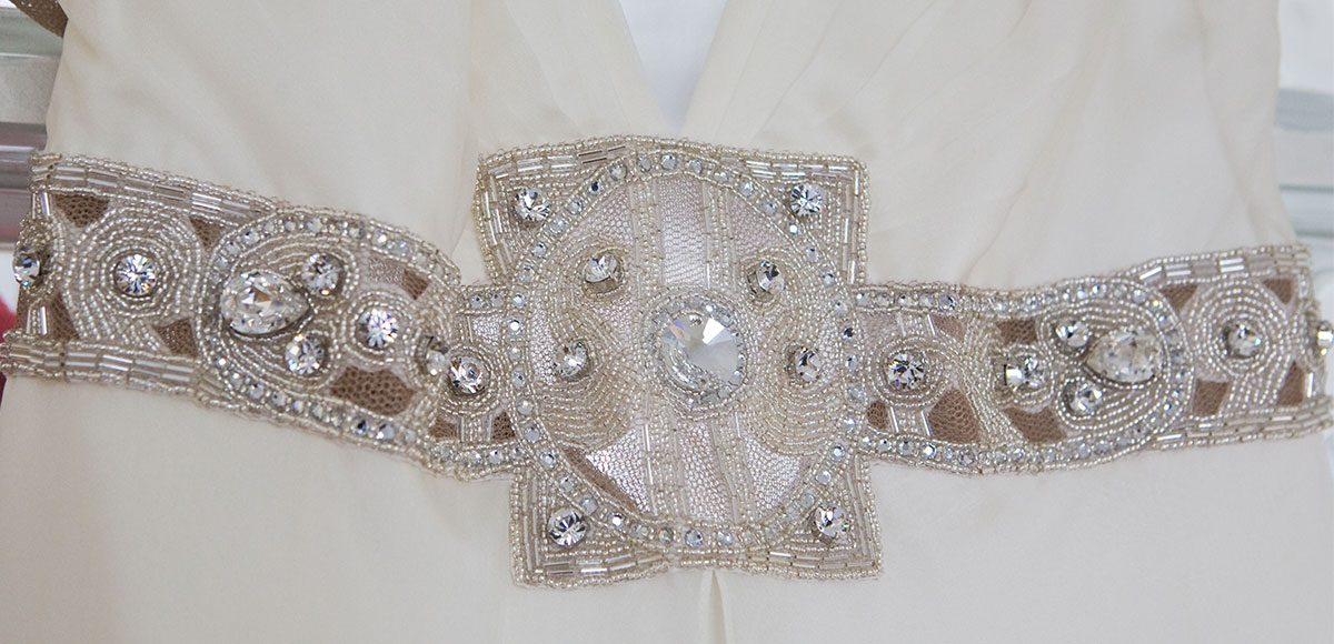 Embellished wedding dress perfect for a winter wedding