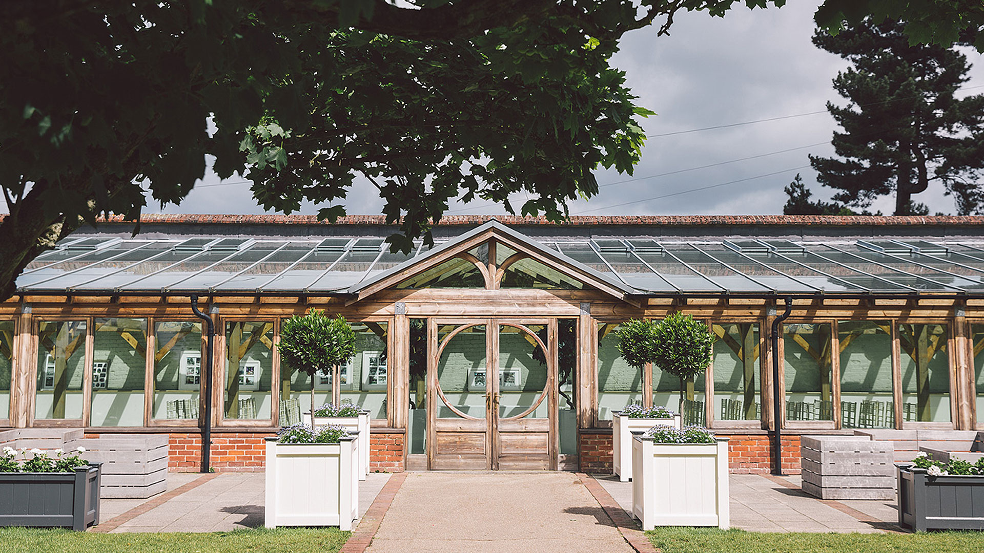 Up to 150 guests can be seated for an intimate wedding ceremony in the Orangery - Essex wedding venues