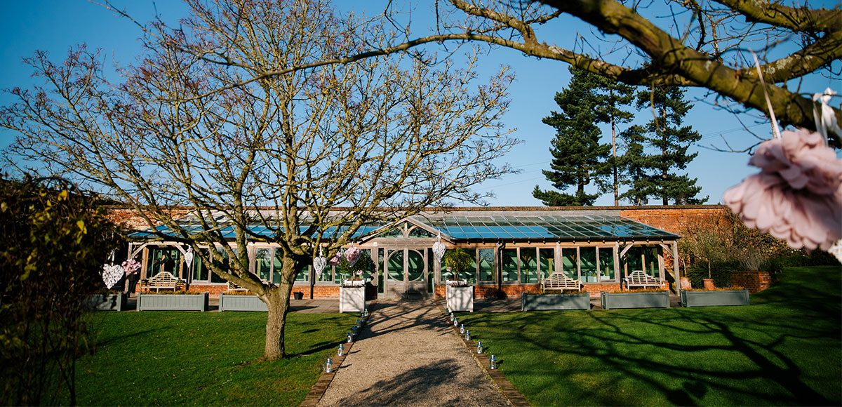 Long Walk and the Orangery in the winter sun – wedding venues in Essex