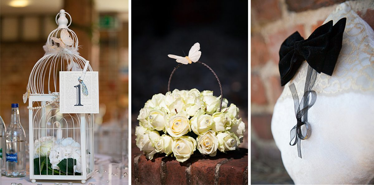 An array of decorative wedding special touches