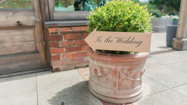 Decorate your barn wedding venue with wedding signs and other rustic wedding decorations