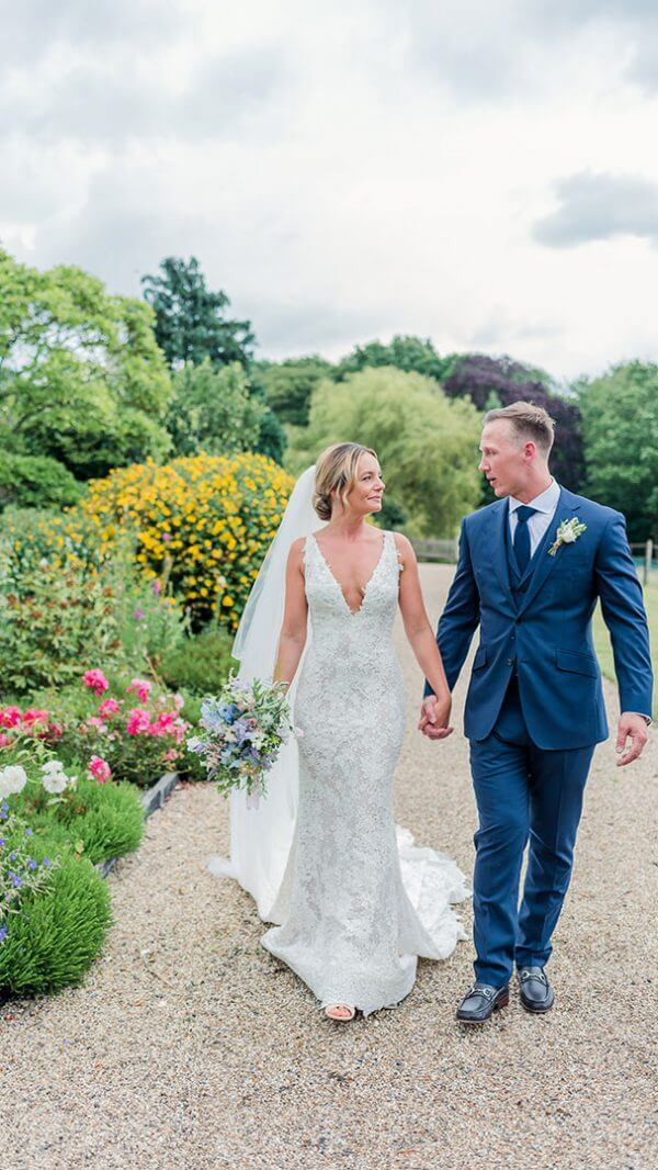 Enjoy the beautiful gardens and pathways at Gaynes Park for your summer wedding