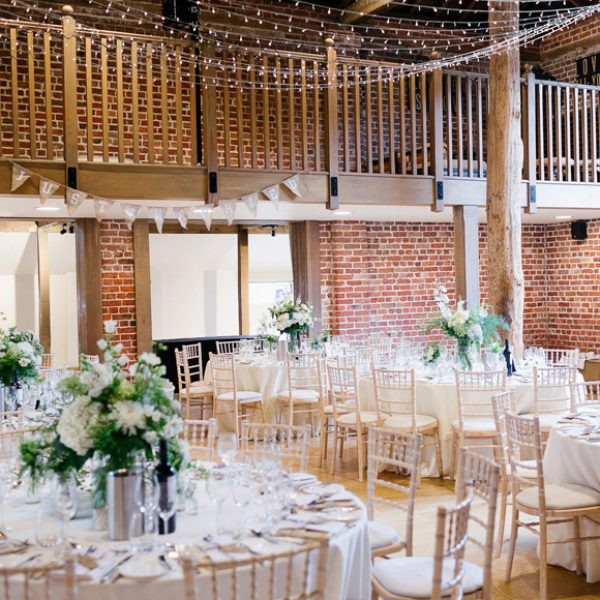 Save Wedding reception tables set up inside the Mill Barn at Gaynes Park \u2013 barn venue hire & Beginners Guide To A Wedding At Gaynes Park \u2013 Gaynes Park