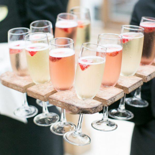 Summer drinks served inside Gaynes Park's beautiful Orangery