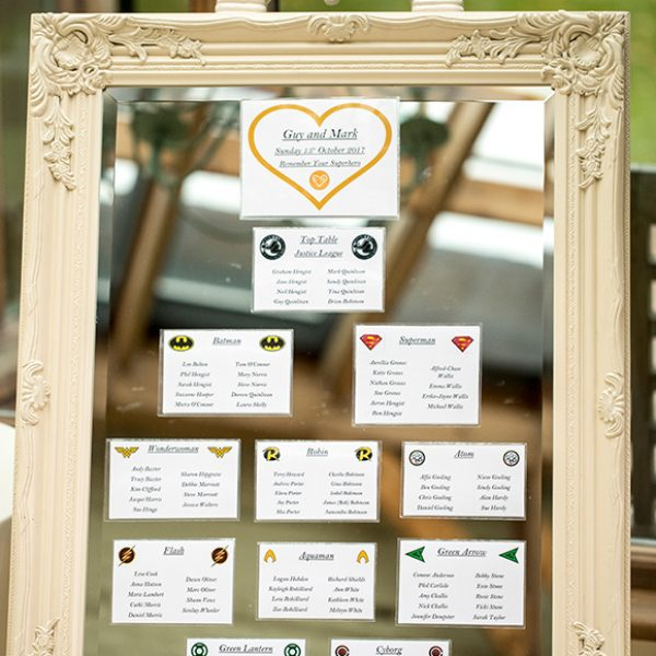 The couple's wedding table plan was presented on a mirror for a sophisticated look – wedding ideas