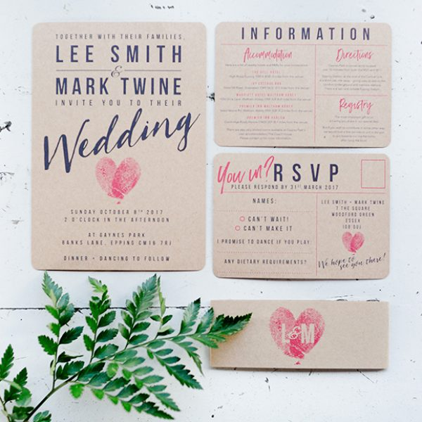 The couples wedding stationary was printed on natural board for that rustic wedding look – wedding ideas