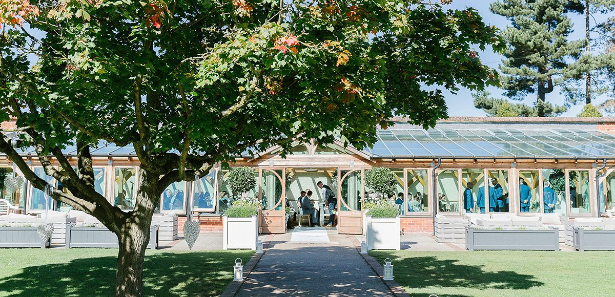 The Orangery at Gaynes Park in Essex looks stunning for a summer wedding ceremony