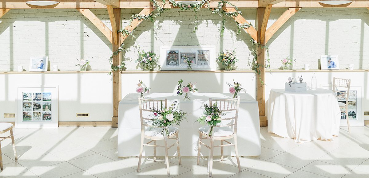 Personal wedding details make a ceremony your own in the Orangery at Gaynes Park