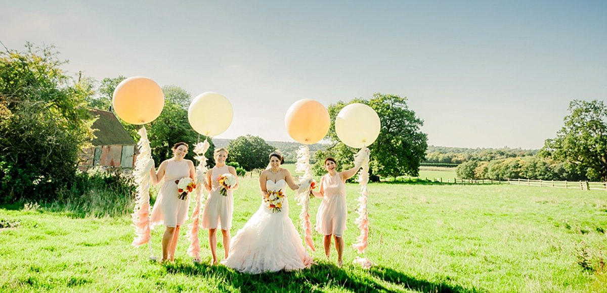 Gaynes Park wedding venue in Essex is surrounded by stunning countryside and is perfect for wedding photos with your bridesmaids