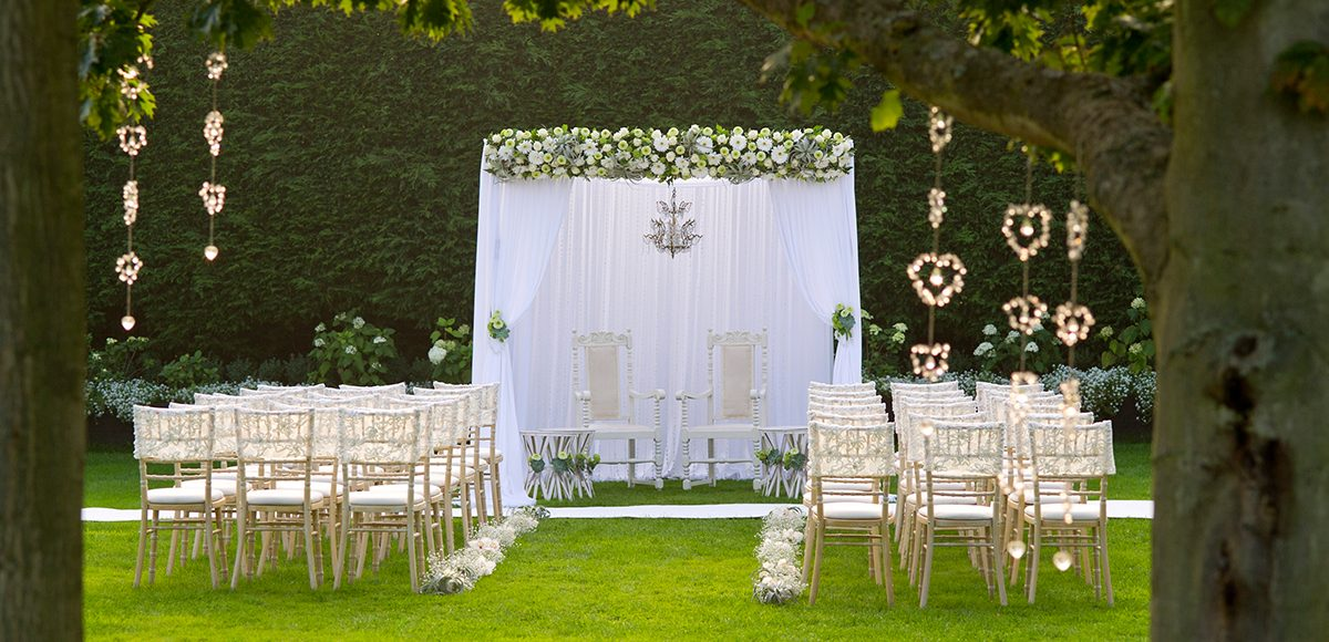 For a summer wedding host your ceremony in the walled gardens at Gaynes Park