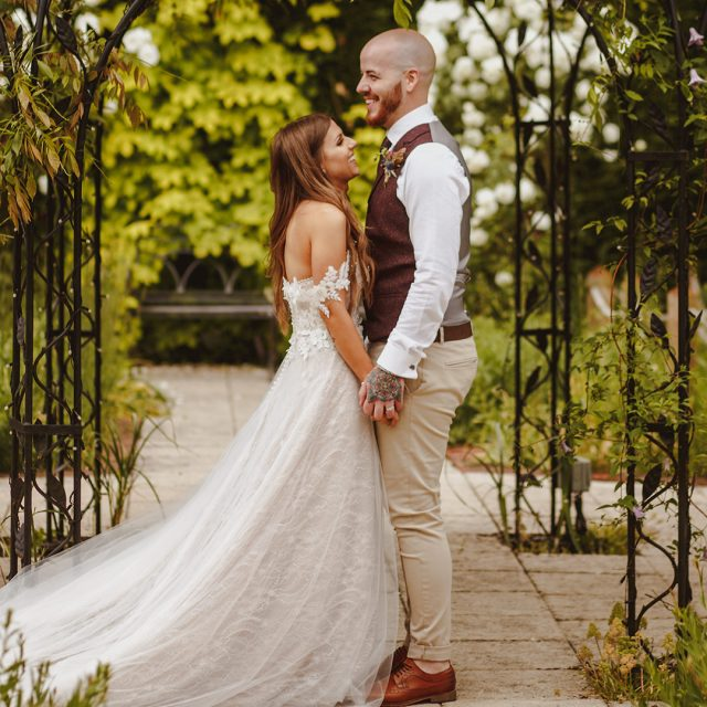 Hannah and Tommy's real life wedding at Gaynes Park