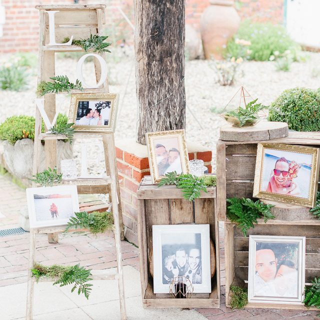 We love rustic weddings here at Gaynes Park and we also love all the wedding decorations that our couples include